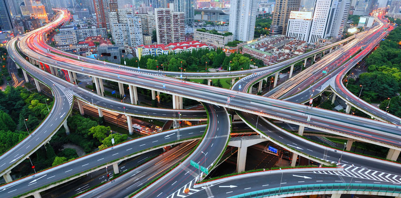 Networked roads
